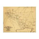 Battle of Shiloh - Civil War Panoramic Map 5 Canvas Prints