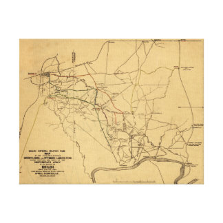 Battle of Shiloh - Civil War Panoramic Map 5 Canvas Print
