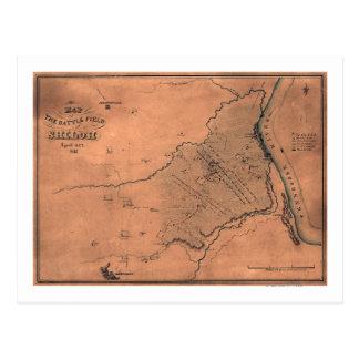 Battle of Shiloh - Civil War Panoramic Map 5 Postcard