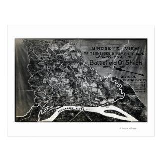 Battle of Shiloh - Civil War Panoramic Map Postcard