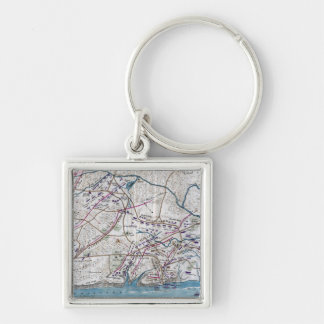 Battle of Shiloh - Civil War Panoramic Map Silver-Colored Square Keychain