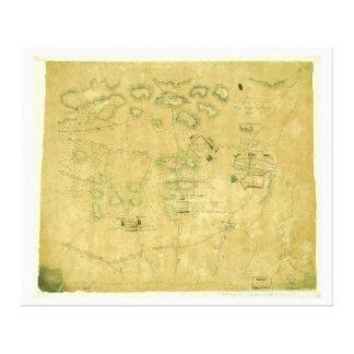 Battle of Short Hills Revolutionary War Map Canvas Print