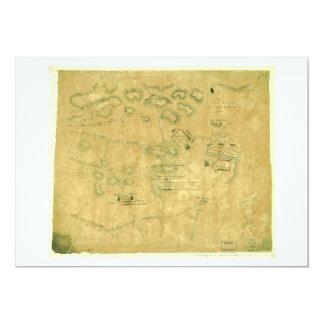 Battle of Short Hills Revolutionary War Map Card