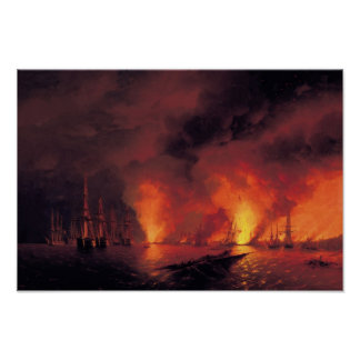 Battle of Sinop at Night Poster