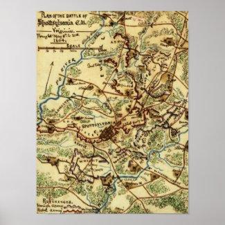Battle of Spotsylvania Court House Print