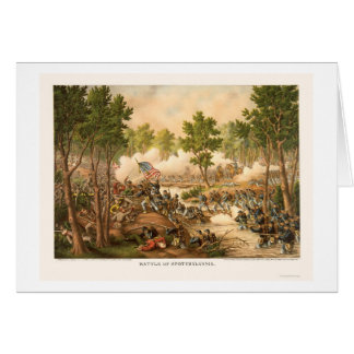 Battle of Spottsylvania by Kurz and Allison 1864 Card