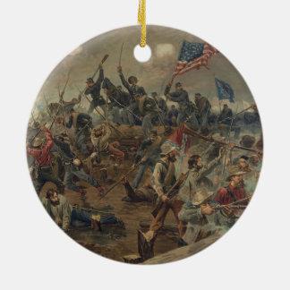 Battle of Spottsylvania by L. Prang & Co. (1887) Ceramic Ornament