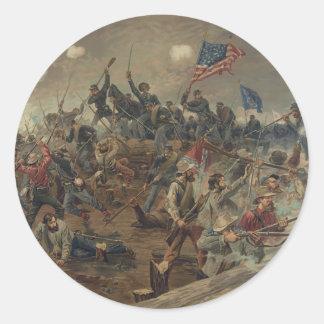 Battle of Spottsylvania by L. Prang & Co. (1887) Classic Round Sticker