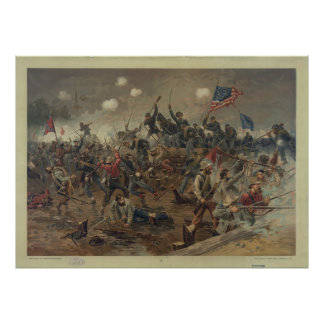 Battle of Spottsylvania by L. Prang & Co. (1887) Poster