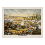 Battle of Stone River by Kurz and Allison 1891 Poster