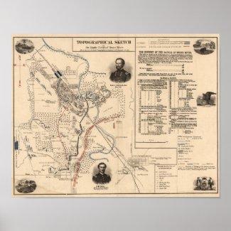 Battle of Stones River - Civil War Panoramic 2 Print
