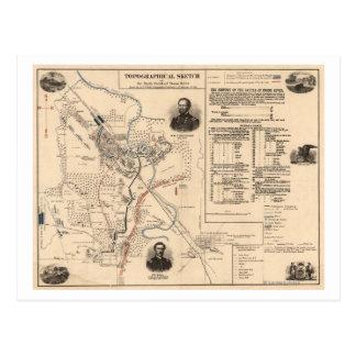 Battle of Stones River - Civil War Panoramic 3 Postcard