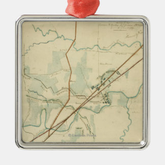 Battle of Stones River - Civil War Panoramic Metal Ornament