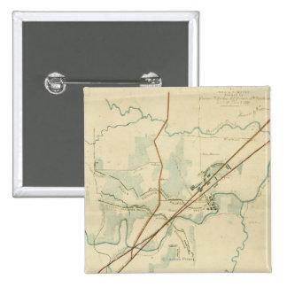 Battle of Stones River - Civil War Panoramic Pinback Button