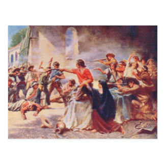 Battle of the Alamo by Percy Moran Postcards