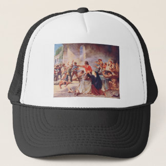 Battle of the Alamo by Percy Moran Trucker Hat