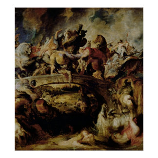 Battle of the Amazons and Greeks , c.1617 Poster