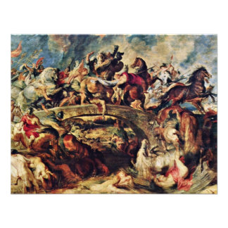 Battle Of The Amazons By Rubens Peter Paul Personalized Announcements