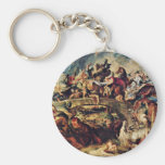 Battle Of The Amazons By Rubens Peter Paul Keychains