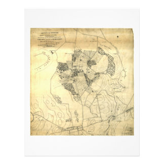 Battle of the Antietam Map September 16 & 17 1862 Letterhead