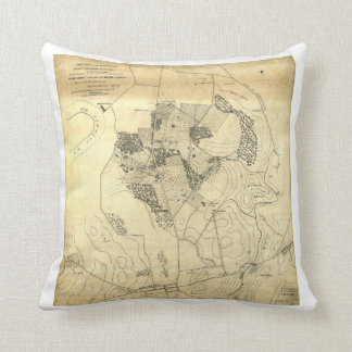 Battle of the Antietam Map September 16 & 17 1862 Throw Pillow