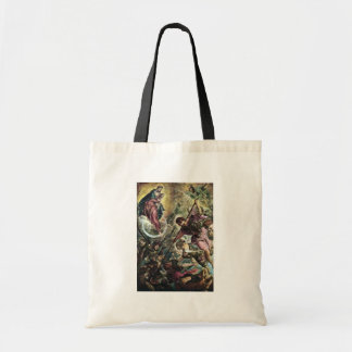 Battle Of The Archangel Michael With Satan By Tint Bag
