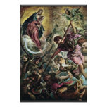 Battle Of The Archangel Michael With Satan By Tint Print