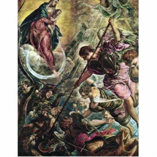 Battle Of The Archangel Michael With Satan By Tint Statuette