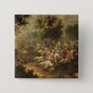 Battle of the cavalrymen button