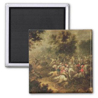 Battle of the cavalrymen magnet
