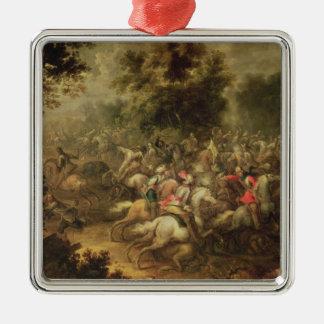 Battle of the cavalrymen metal ornament