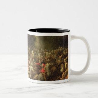 Battle of the cavalrymen Two-Tone coffee mug