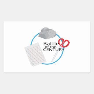 Battle of the Century Rectangular Sticker