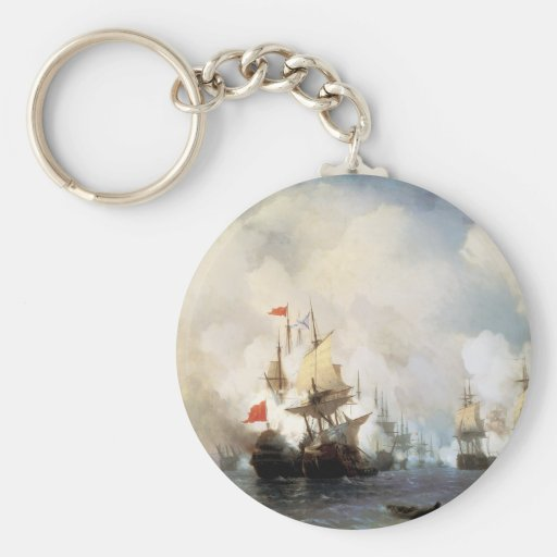 Battle of the Chios Strait Keychains