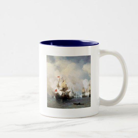 Battle of the Chios Strait Two-Tone Coffee Mug