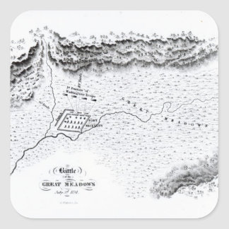 Battle of the Great Meadows, July 3rd 1754 Square Sticker