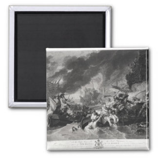 Battle of the Hague, 29th May 1692 2 Inch Square Magnet