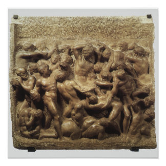 Battle of the Lapiths and Centaurs by Michelangelo Invitation
