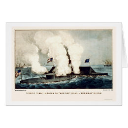 Battle of the Monitor and Merrimac 1862 Card