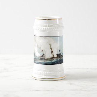 Battle of the Monitor and Merrimack 18 Oz Beer Stein
