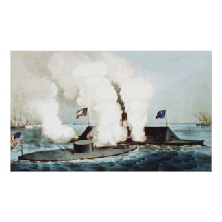 Battle of the Monitor and Merrimack Poster