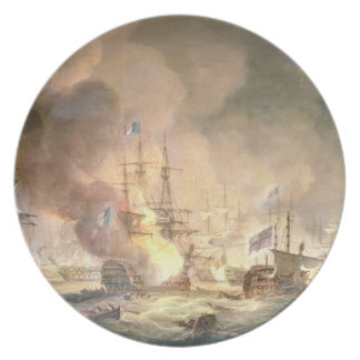 Battle of the Nile, 1st August 1798 at 10pm, 1834 Plate