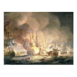 Battle of the Nile, 1st August 1798 at 10pm, 1834 Postcard