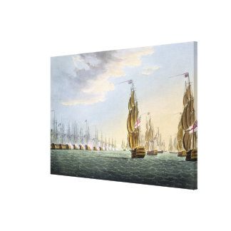 Battle of the Nile, August 1st 1798, engraved by T Canvas Print