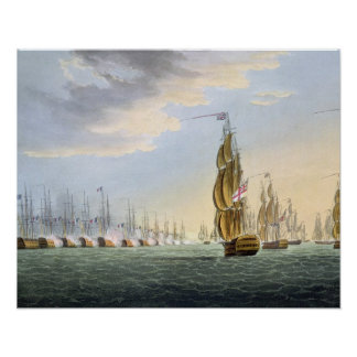 Battle of the Nile, August 1st 1798, engraved by T Poster