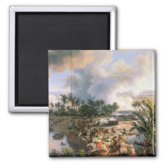 Battle of the Pyramids 2 Inch Square Magnet