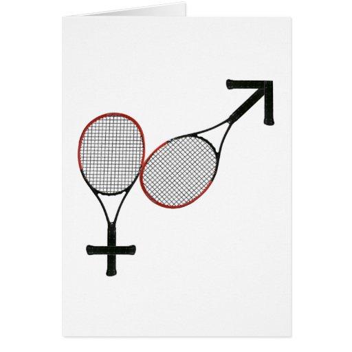 Battle of the Sexes Tennis Card