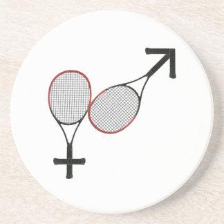Battle of the Sexes Tennis Sandstone Coaster