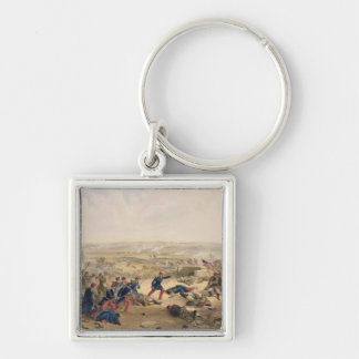 Battle of the Tchernaya, August 16th 1855, plate f Silver-Colored Square Keychain
