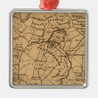 Battle of the Wilderness - Civil War Panoramic 2 Metal Ornament